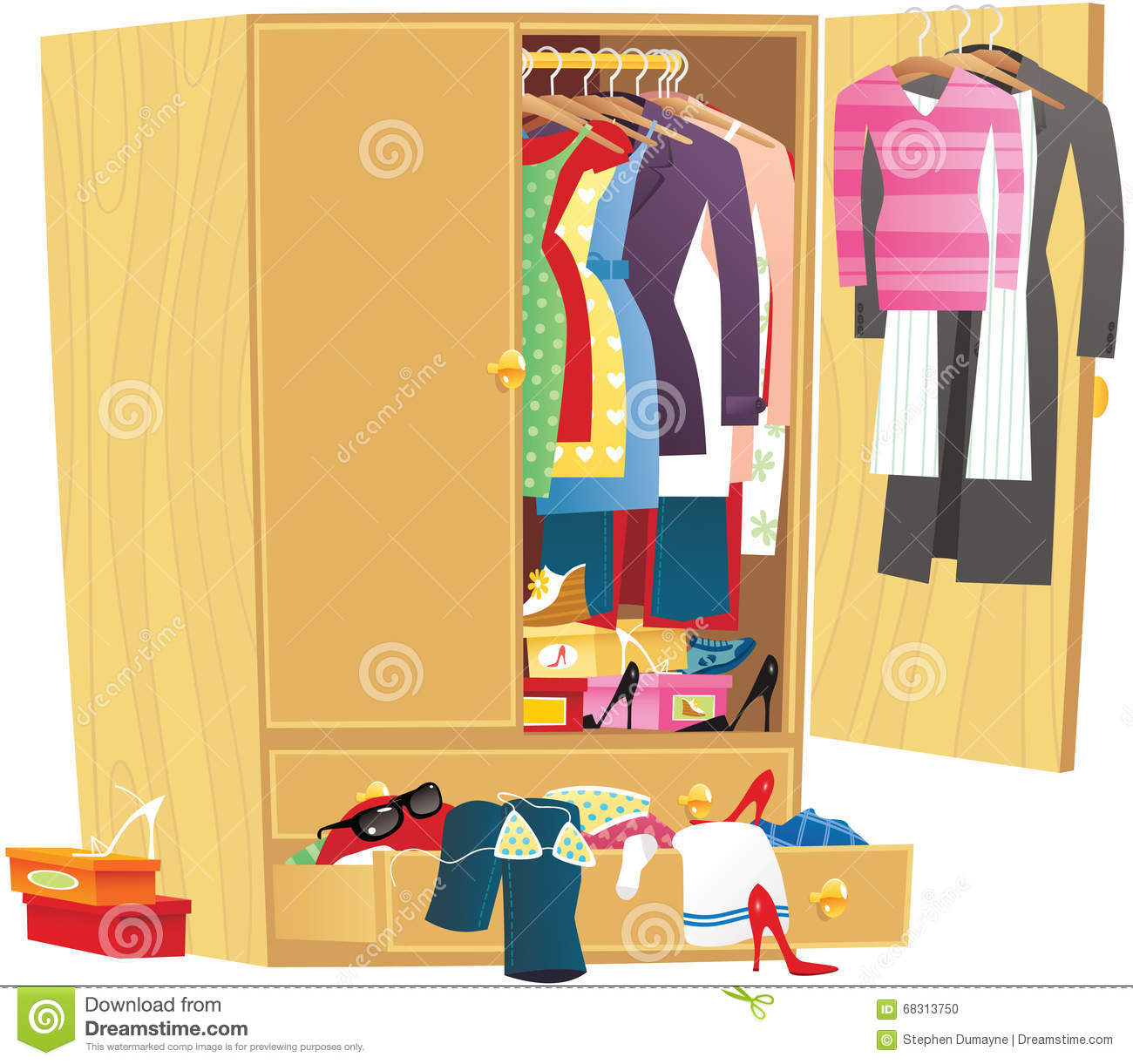 Messy Wardrobe Stock Illustrations 37 Vectors Clipart