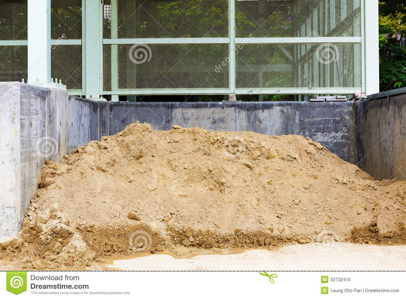 Construction Site Soil : Messy construction site stock image of nature