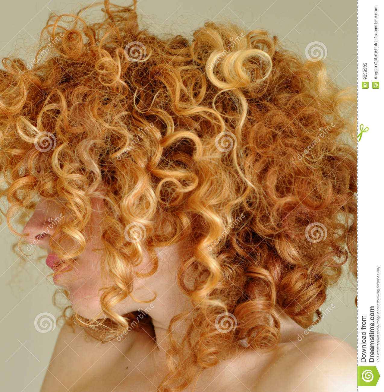 Messy Curly Red Hair Stock Image Image Of Curly