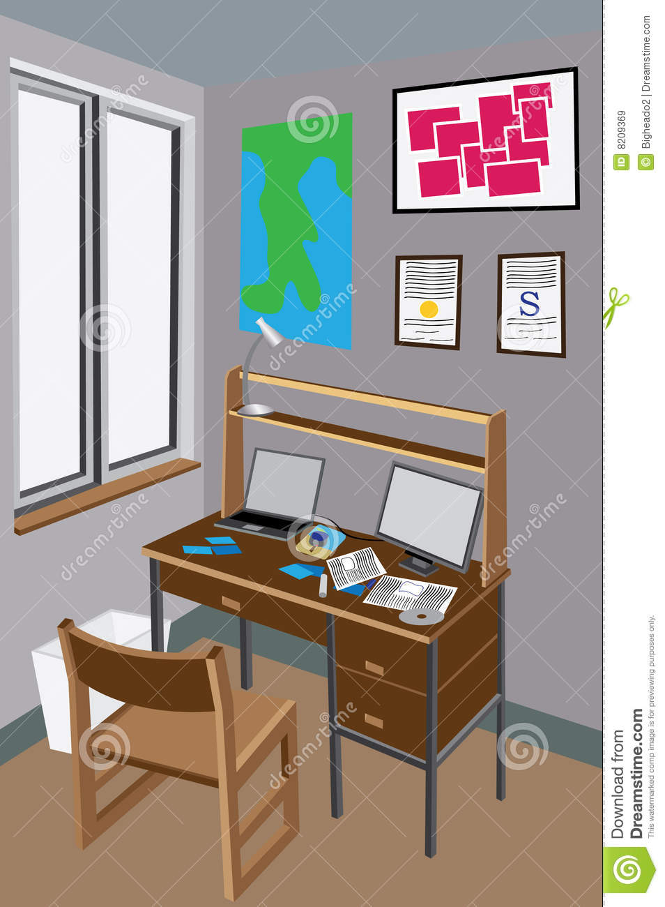 Messy Desk Stock Vector Image Of Dormitory Residence