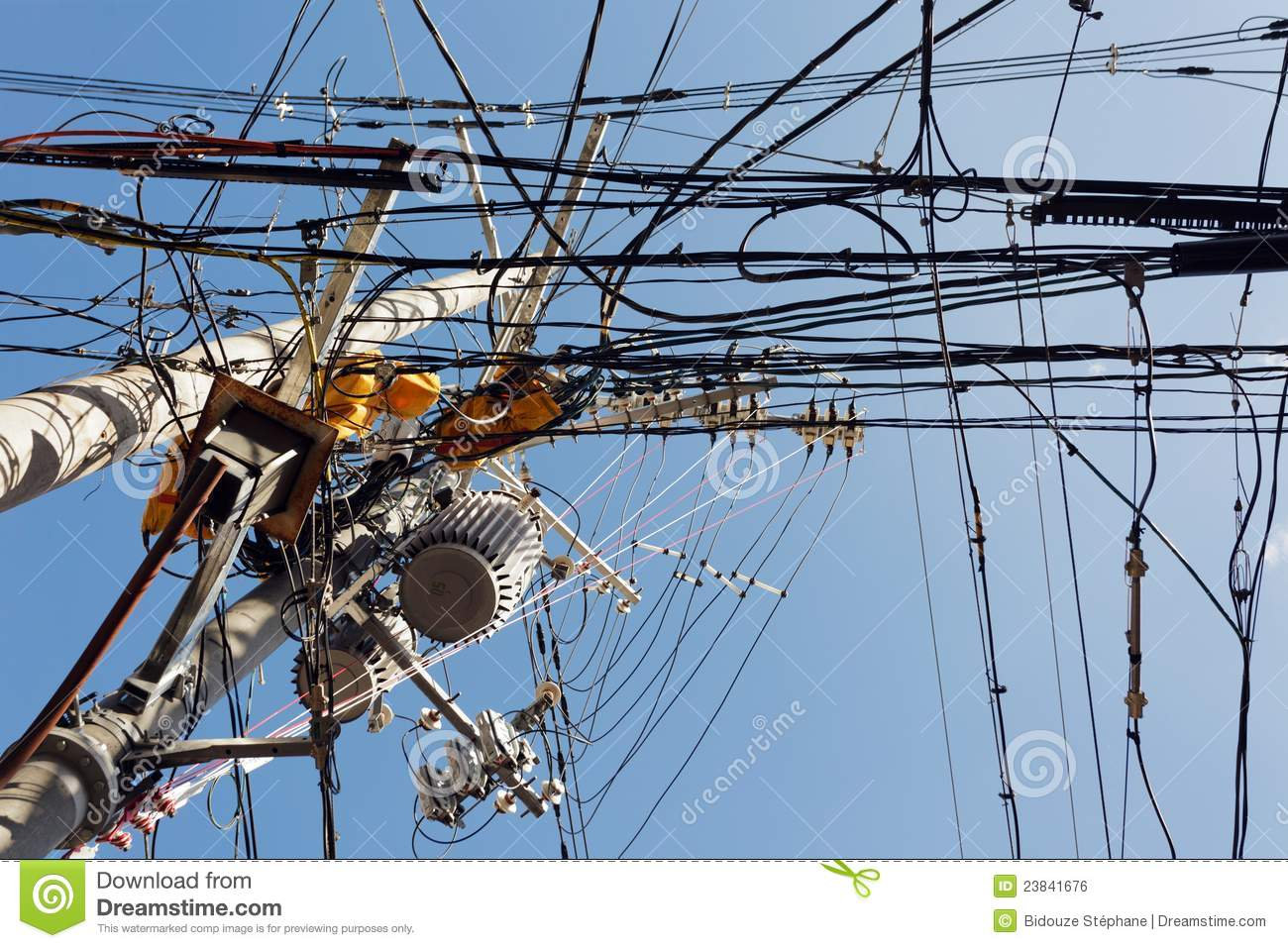 cartoon messy wiring  messy electric wire stock photo | cartoondealer.com #51326844 #11