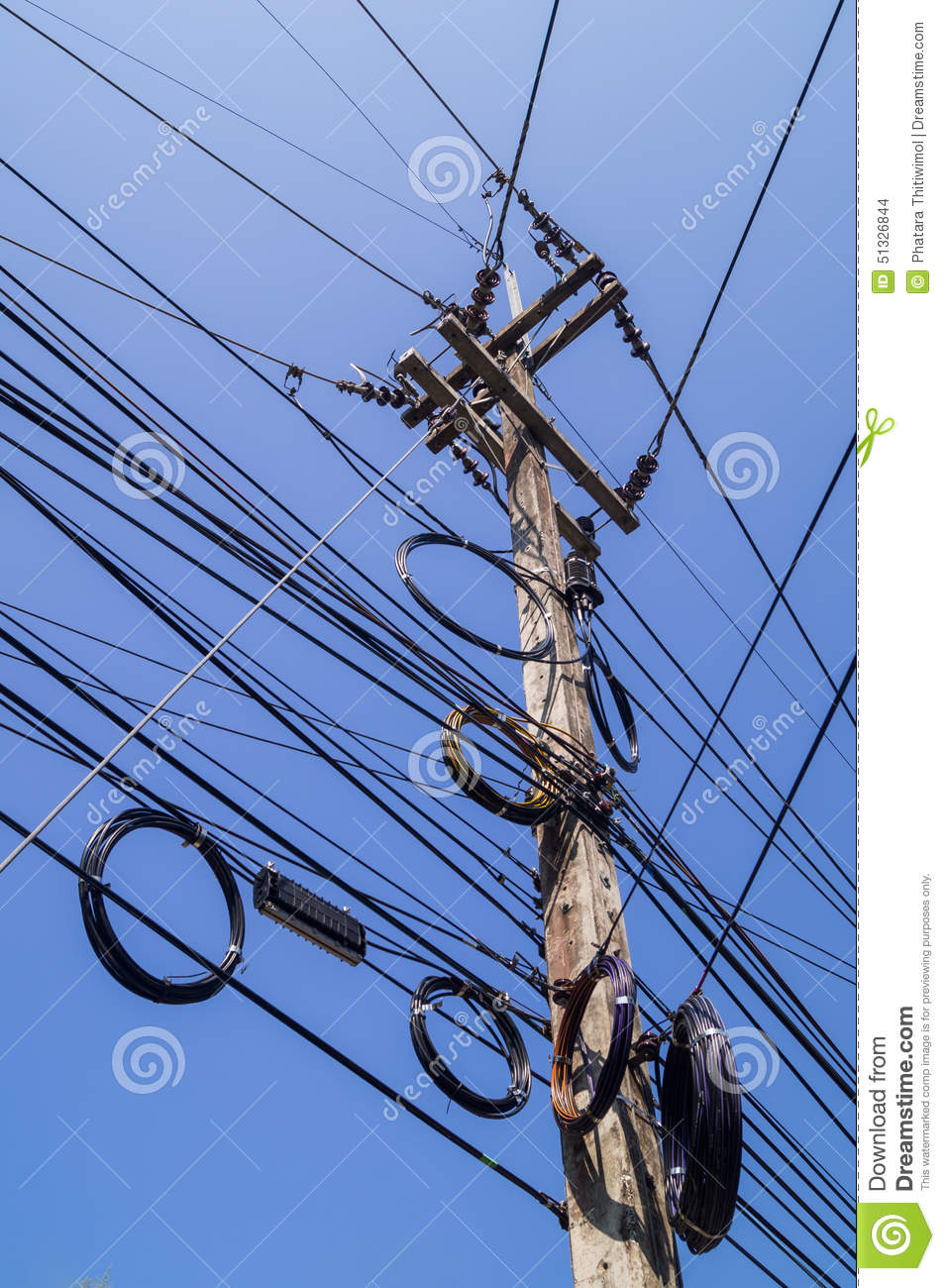 cartoon messy wiring wire electric messy stock photography | cartoondealer.com ... #9