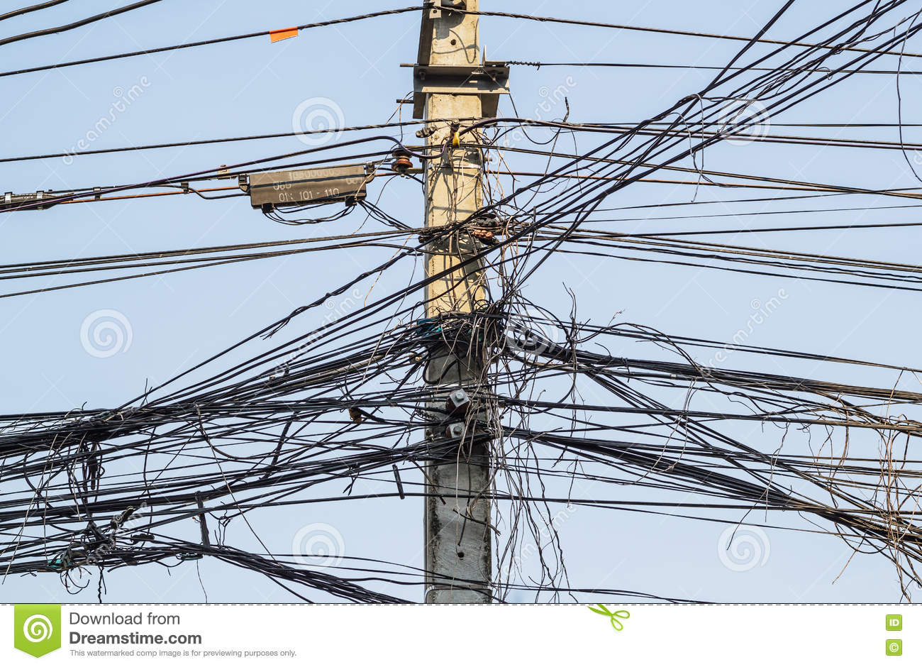 Messy Electrical Cables And Wires Stock Image Of Cable Wiring