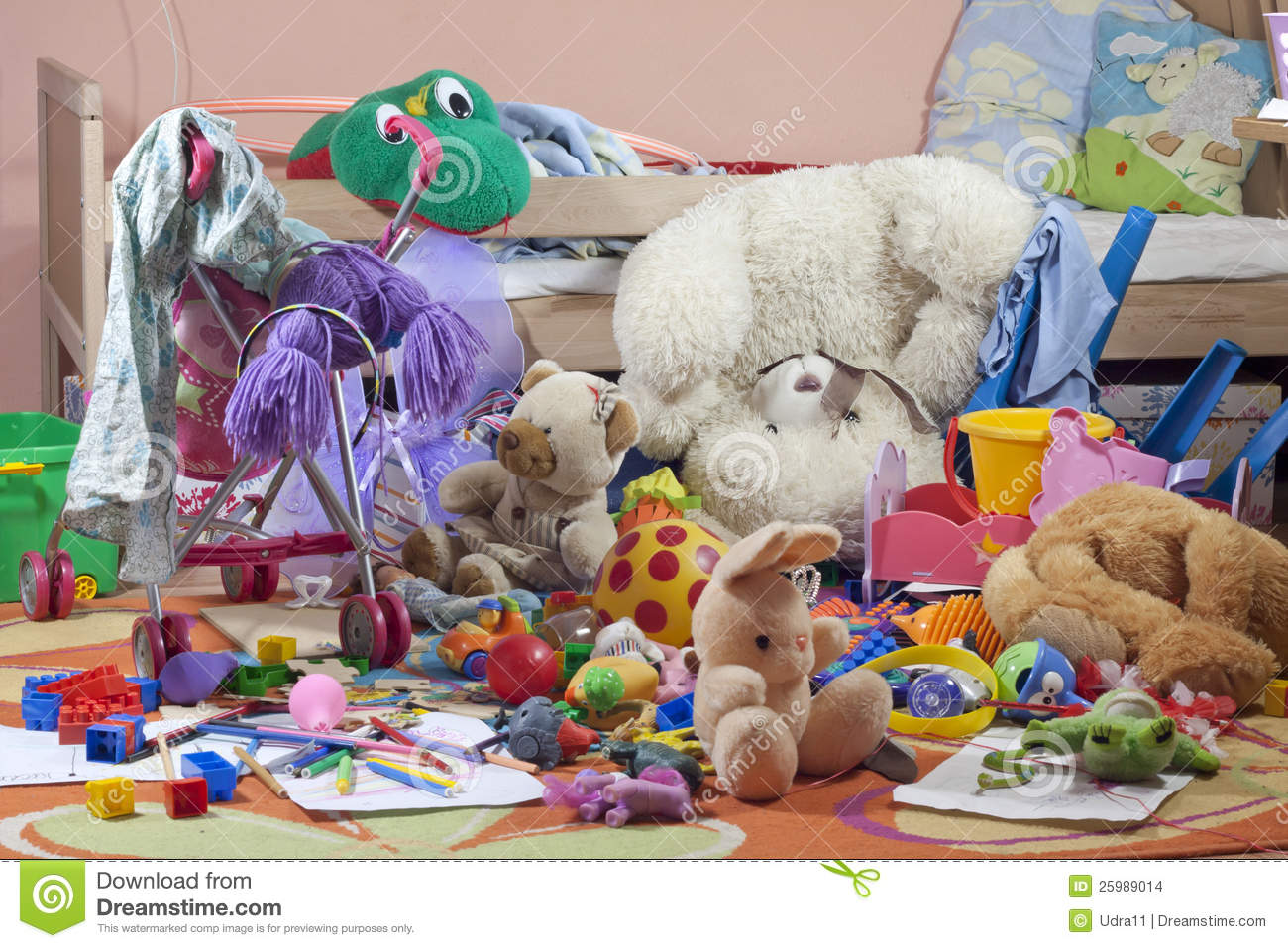 Messy Kids Room Before And After messy kids room with toys stock images - image: 25989014