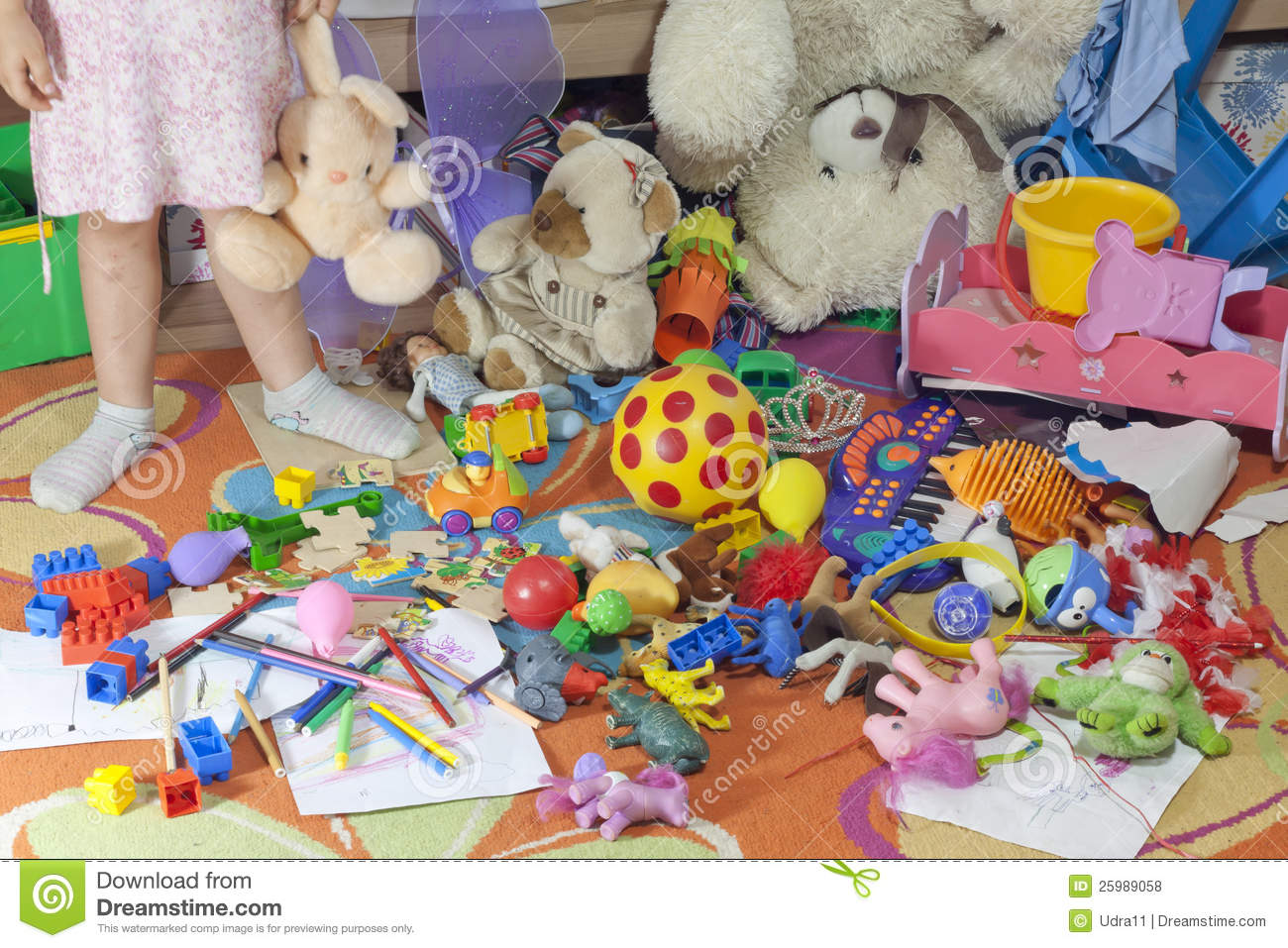 Messy Kids Room With Toys Royalty Free Stock Photos Image