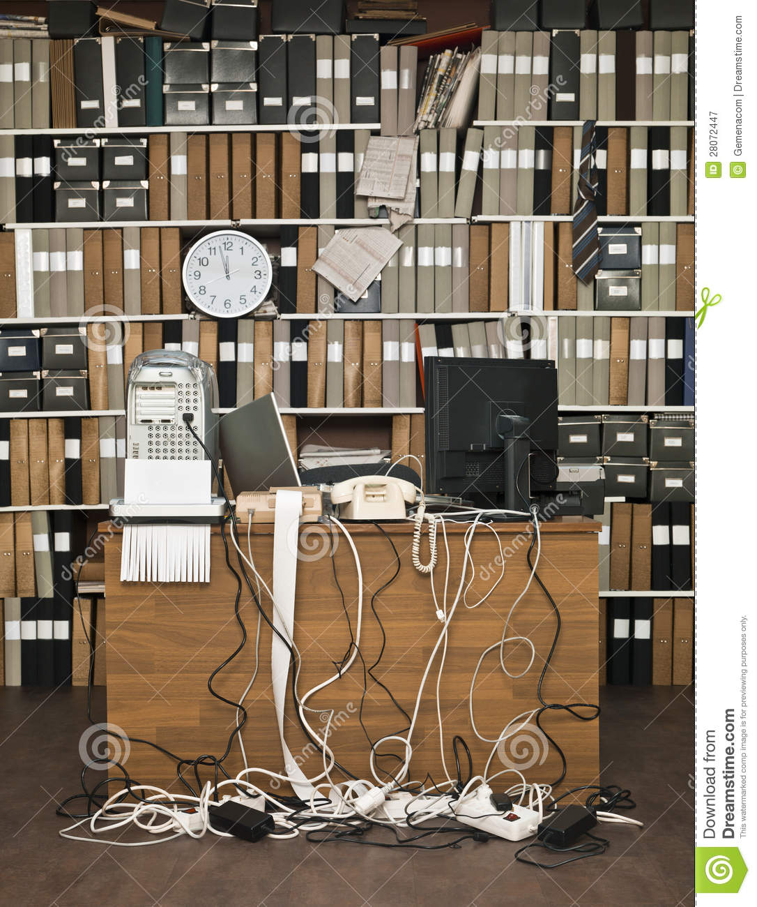 Messy Office: Messy Office Royalty Free Stock Photography