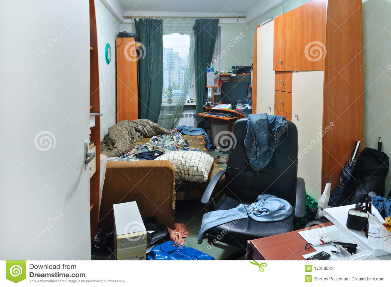messy room stock photography image 17208522