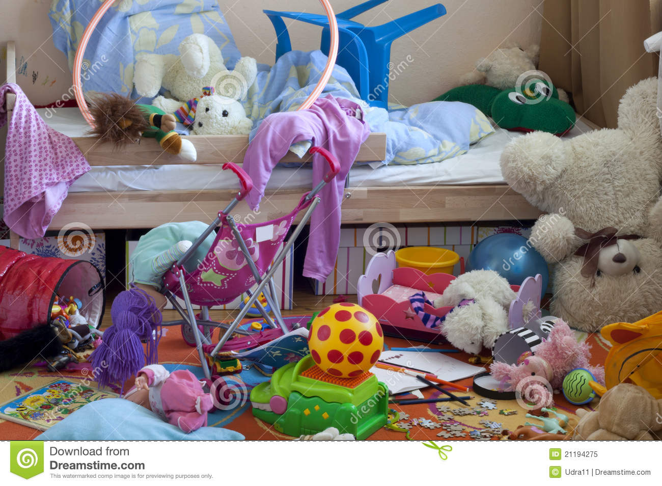 Messy room stock image. Image of kids, doll, home, muss ...