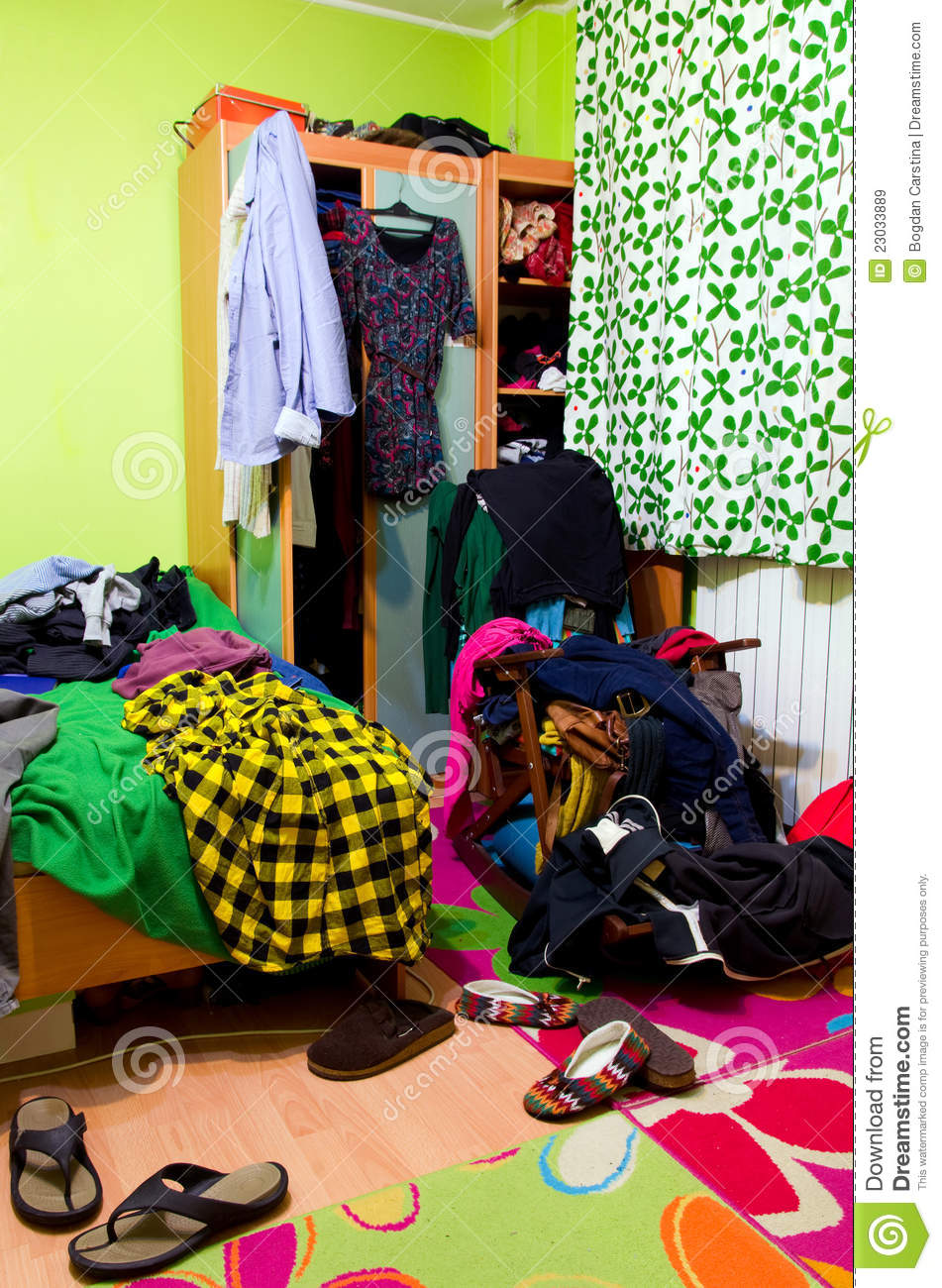 Messy Room Stock Image Image Of Interior Hanging Opened