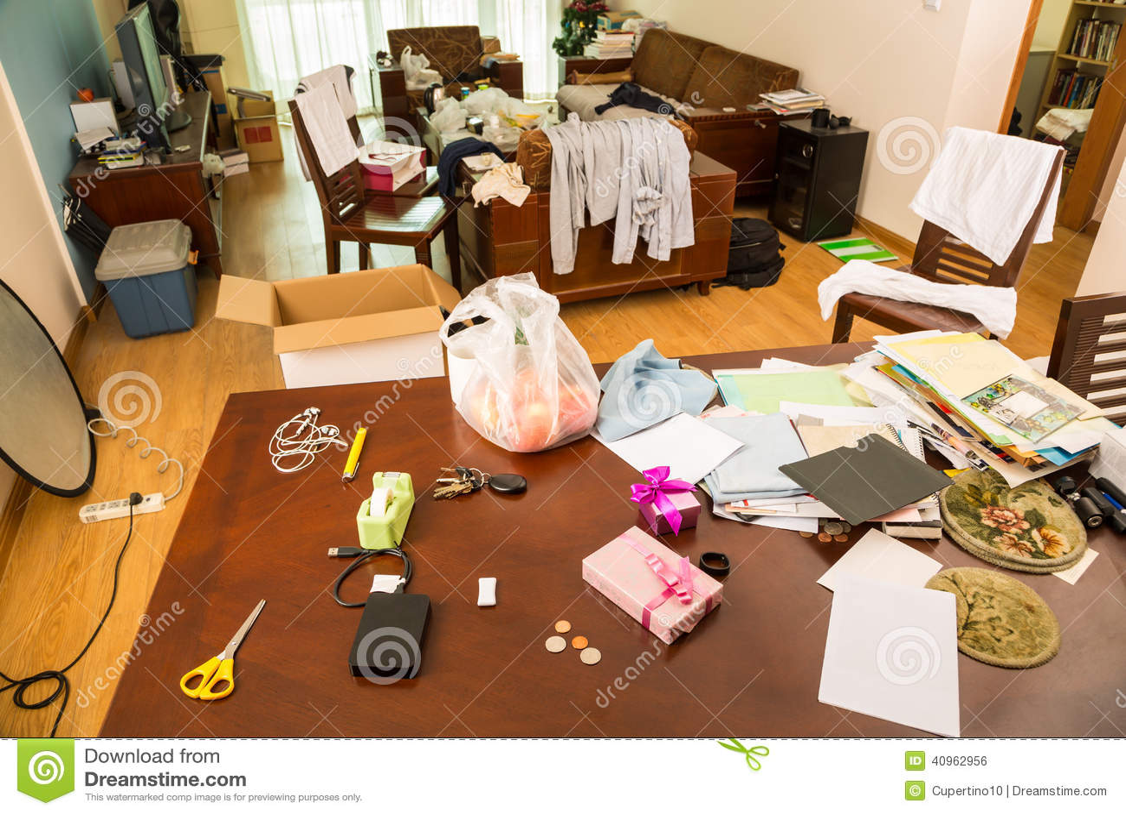 Messy Room Stock Photo Image 40962956