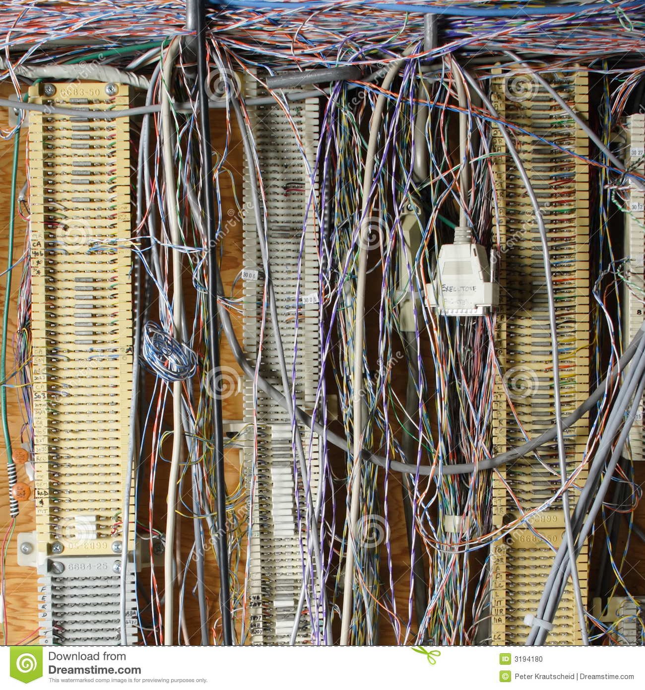 Messy Wires Stock Photo Image 3194180