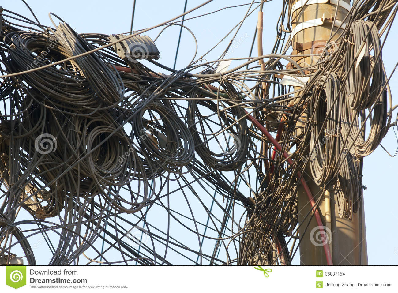 messy wires stock photo image of disorder wire pillar 35887154 rh dreamstime com