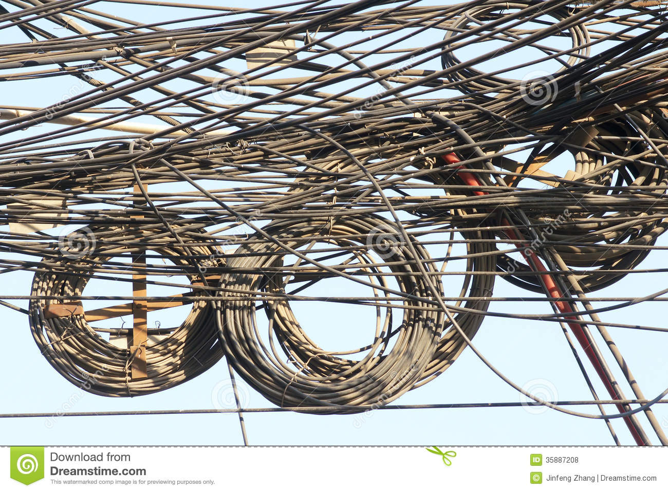 Messy wires stock photo. Image of bind, intricate, mess - 35887208