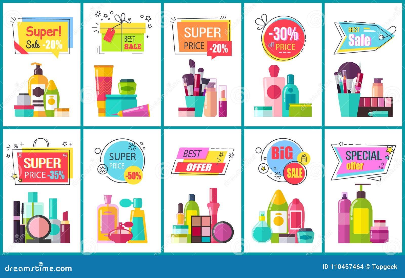 Mest bra Sale för dekorativa och Skincare skönhetsmedel