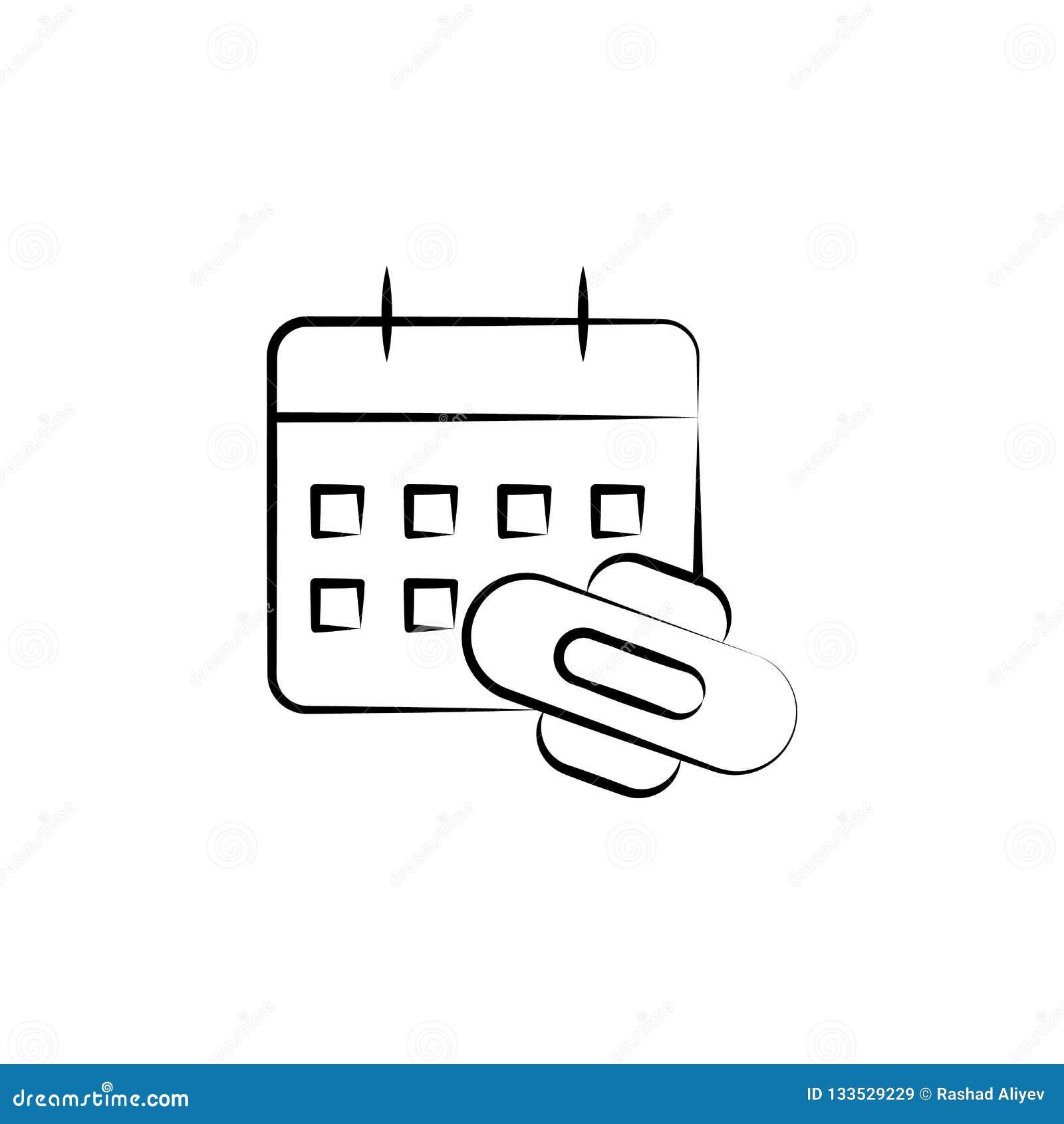 Calendario Delle Mestruazioni.Mestruazione Icona Disegnata A Mano Del Calendario Una