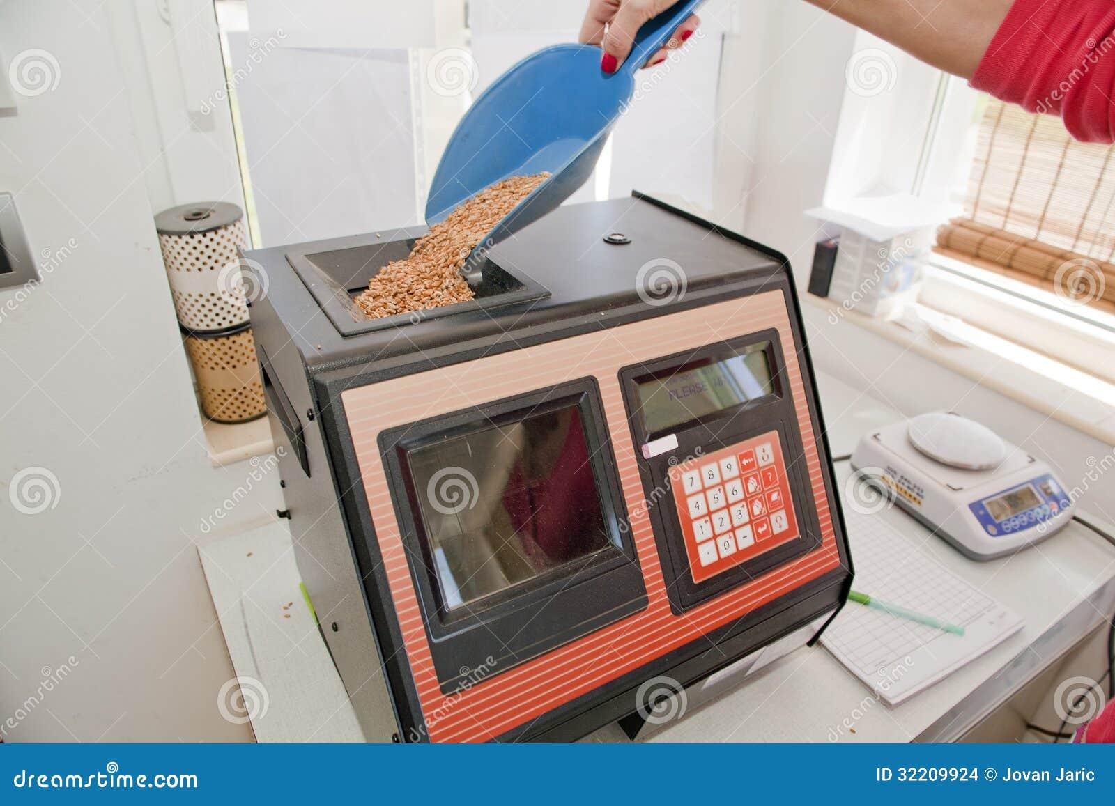 Mesure de l humidité dans des grains de blé