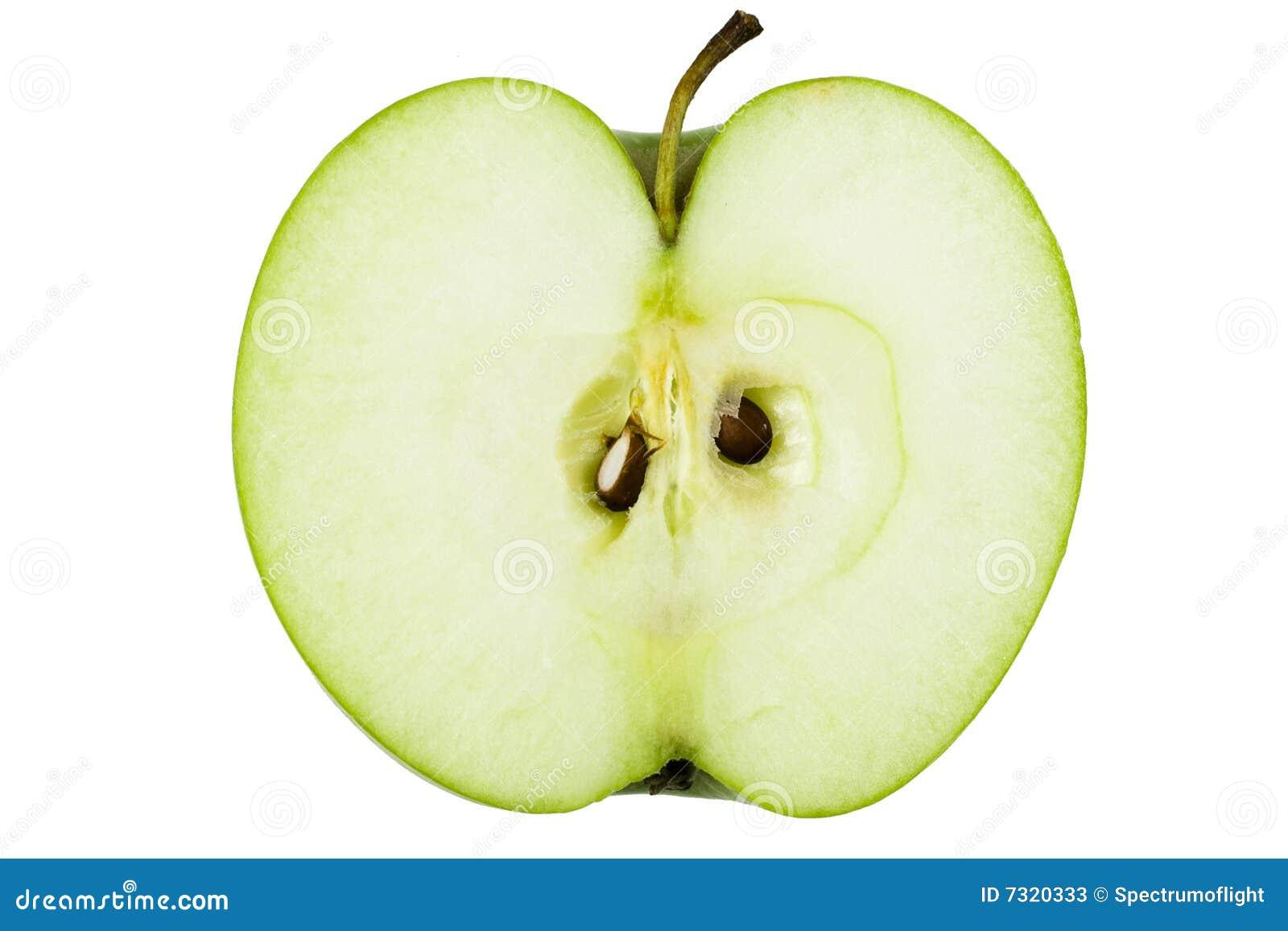 Metà del Apple verde