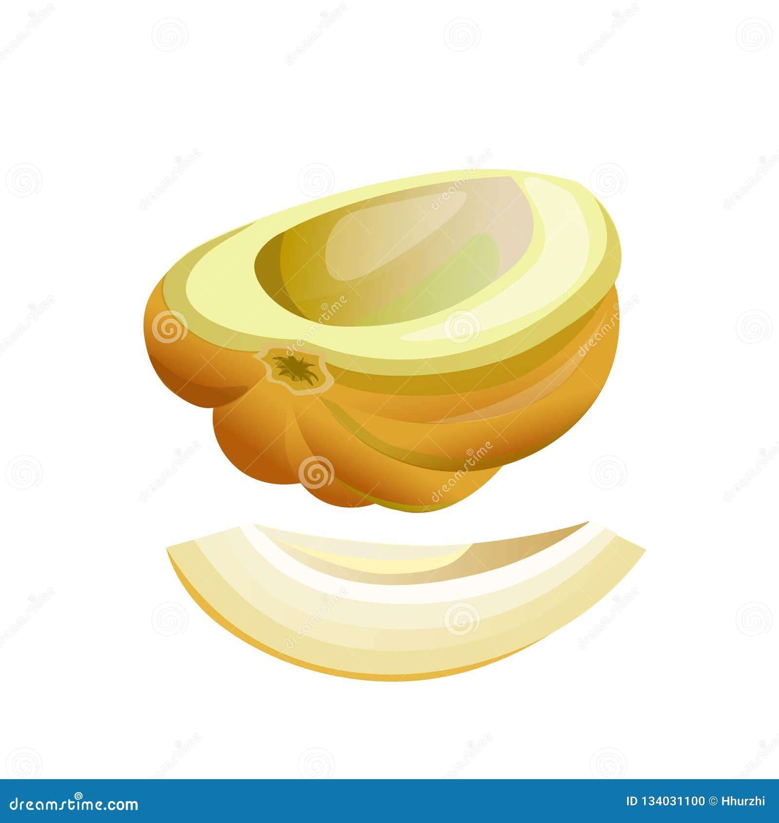 Metà e fetta del melone