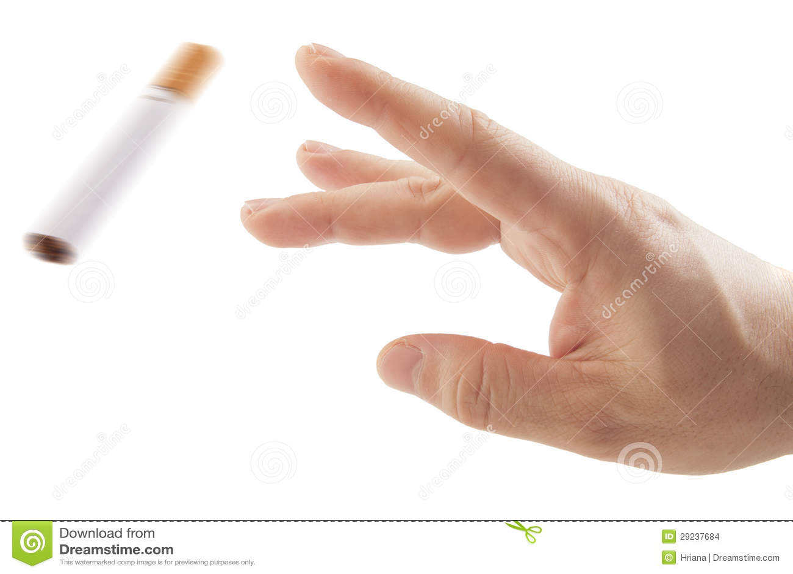 Download Metáfora De Fumo Trowing Quit Do Cigarro Da Mão Foto de Stock - Imagem de nicotine, cigarros: 29237684