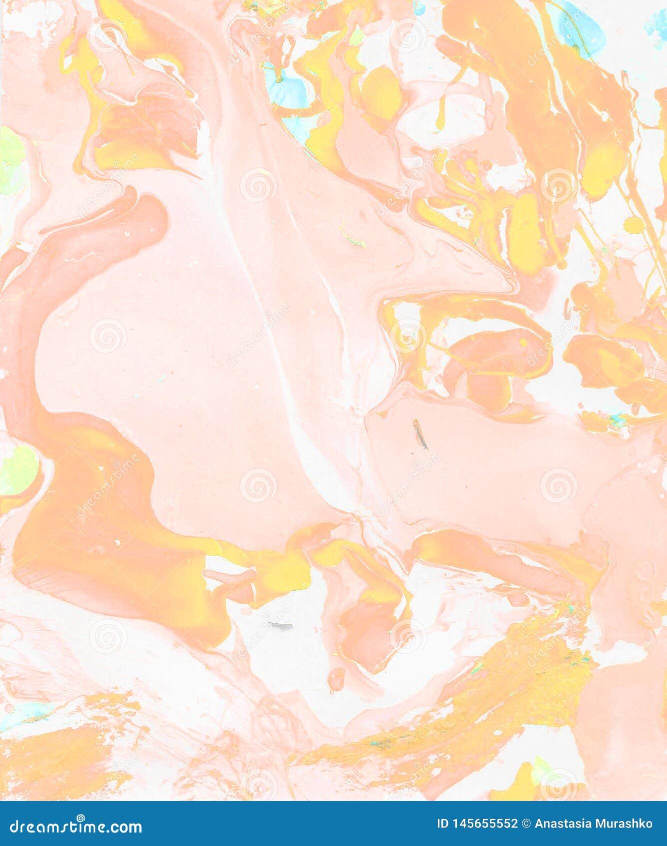 Met de hand geschilderde lichtrose abstracte achtergrond