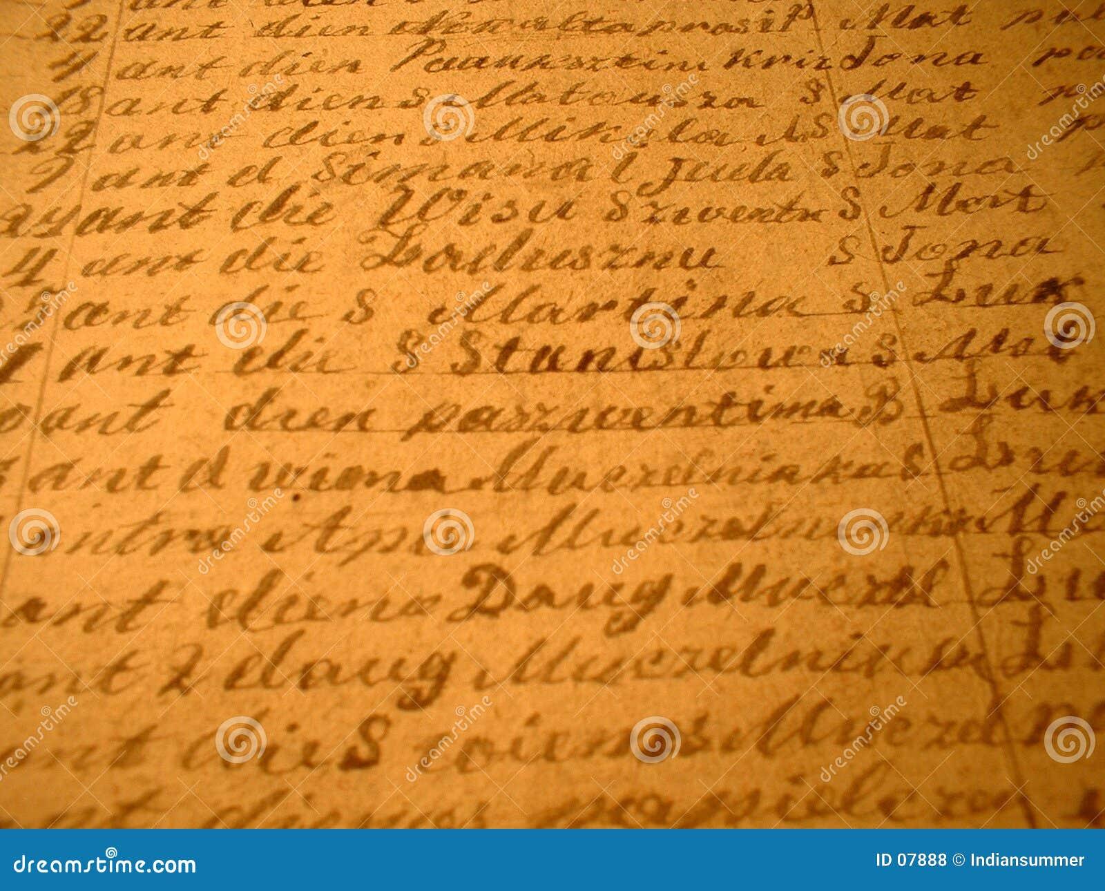 Met de hand geschreven