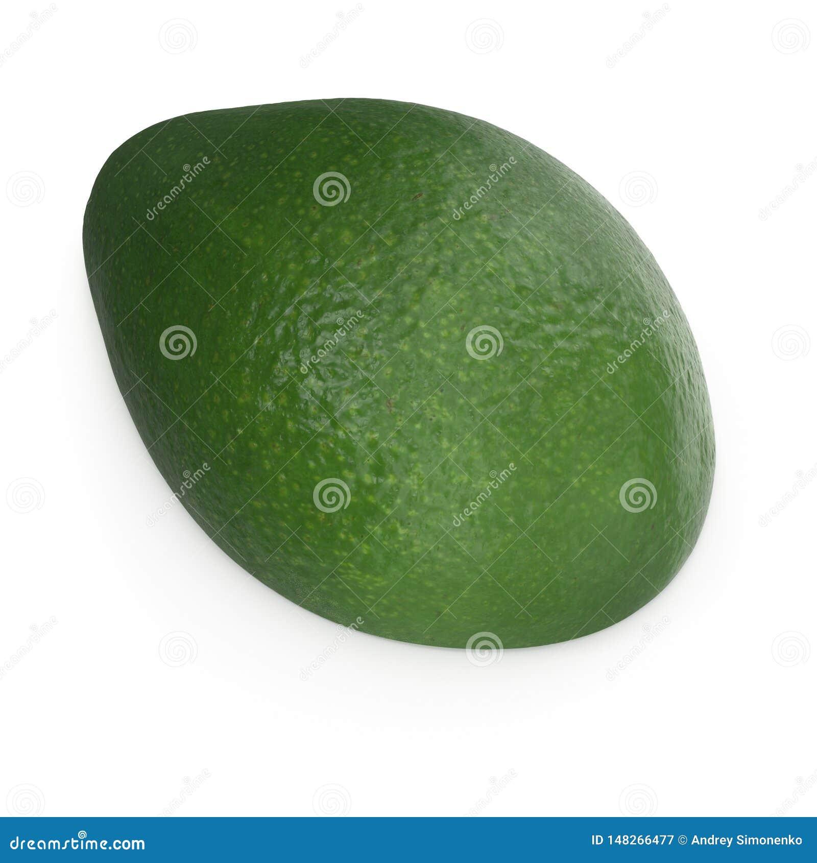 Met? dell avocado isolata sull illustrazione bianca del fondo 3D