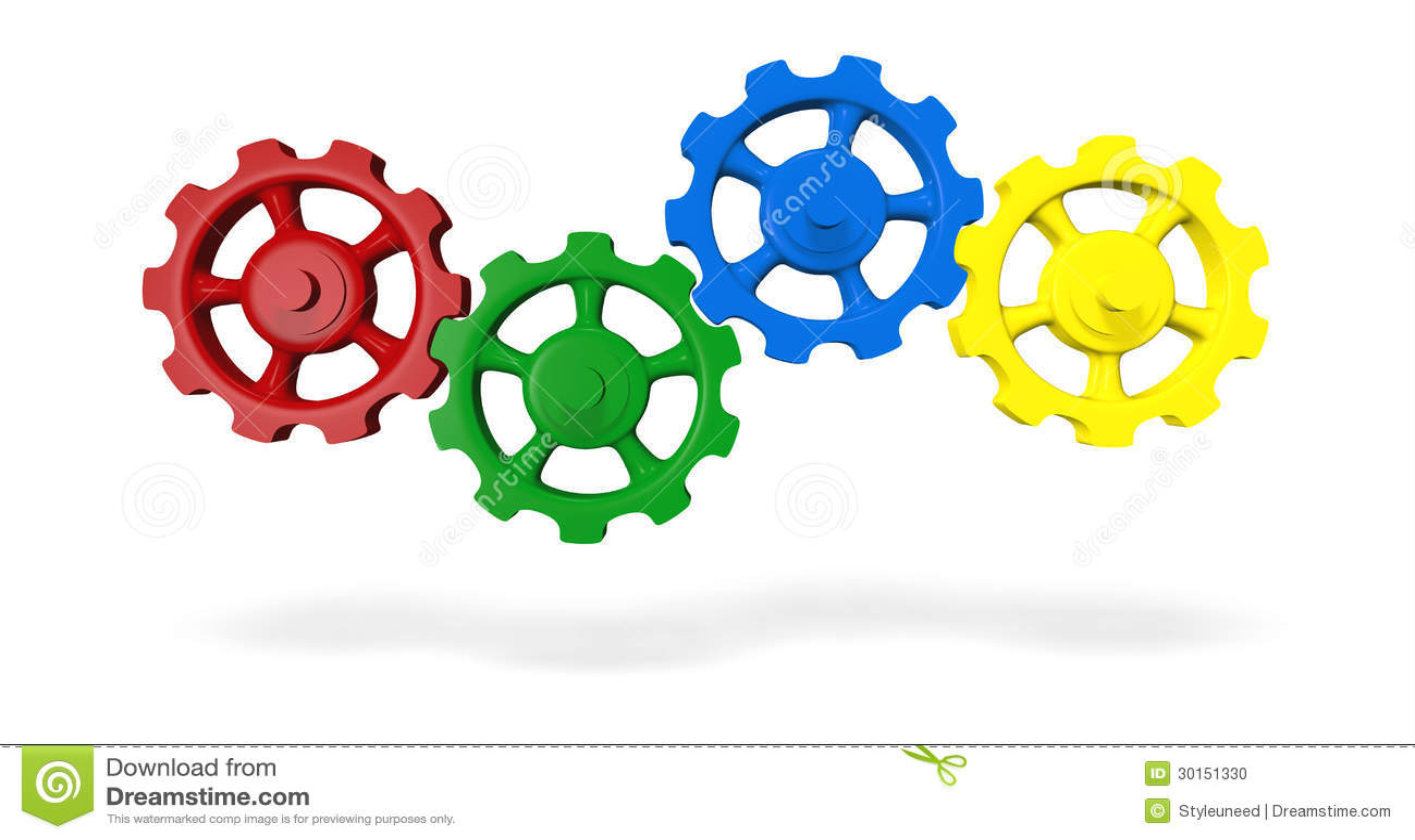 De wielen van het radertje