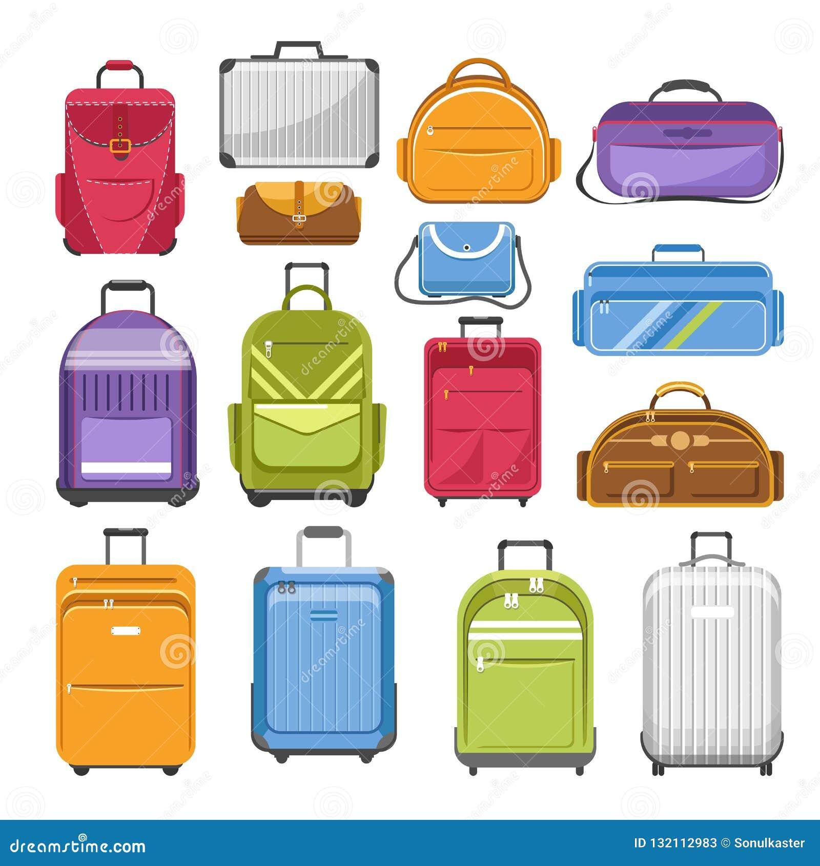 Met en sac le type différent modèles de sac de voyage