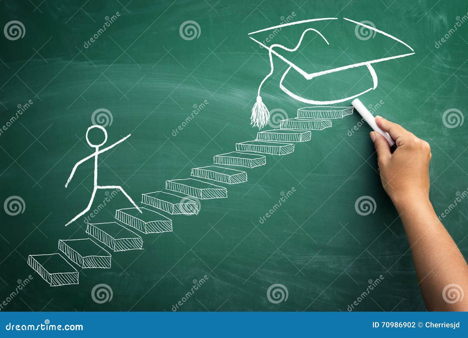 Met zekere stappen aan graduatie