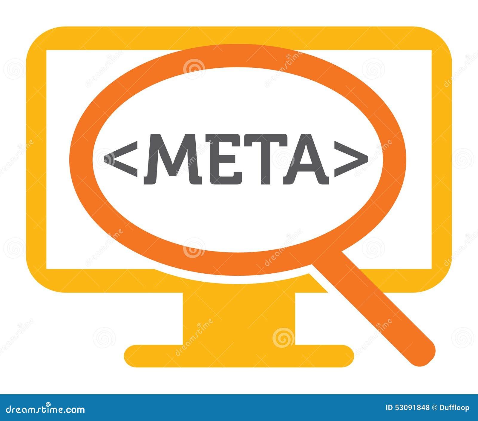 Meta Data Search Stock Vector Image 53091848