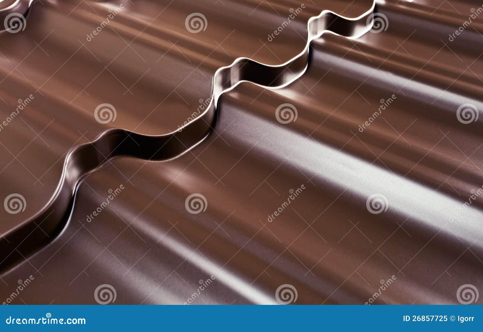 Metaal dat voor een dak behandelt