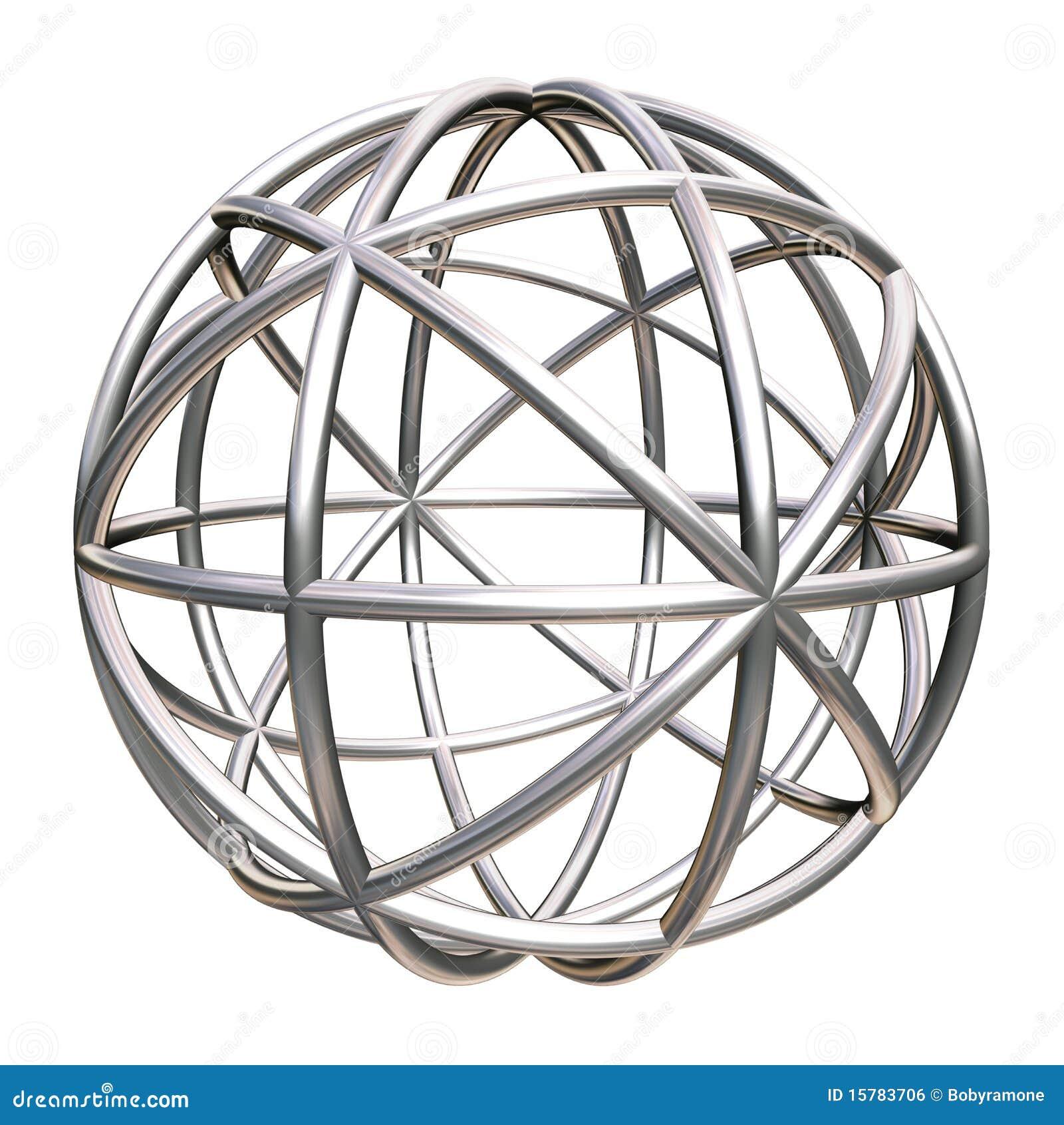 Metaal geometrisch voorwerp