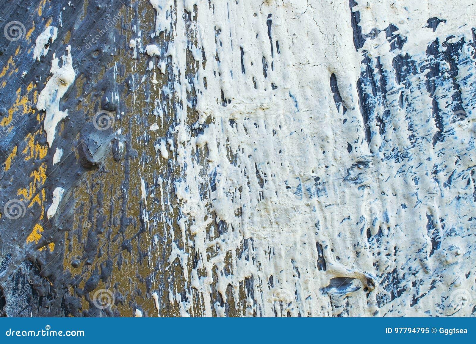 Metaal geschilderde textuurmuur