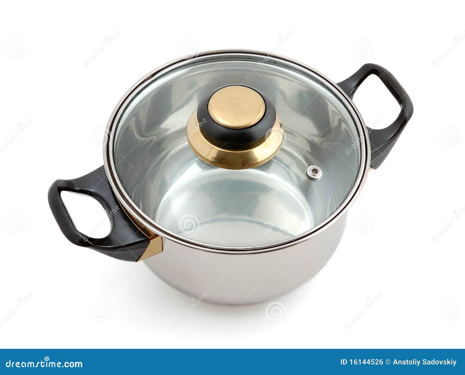 Metaal pan met deksel