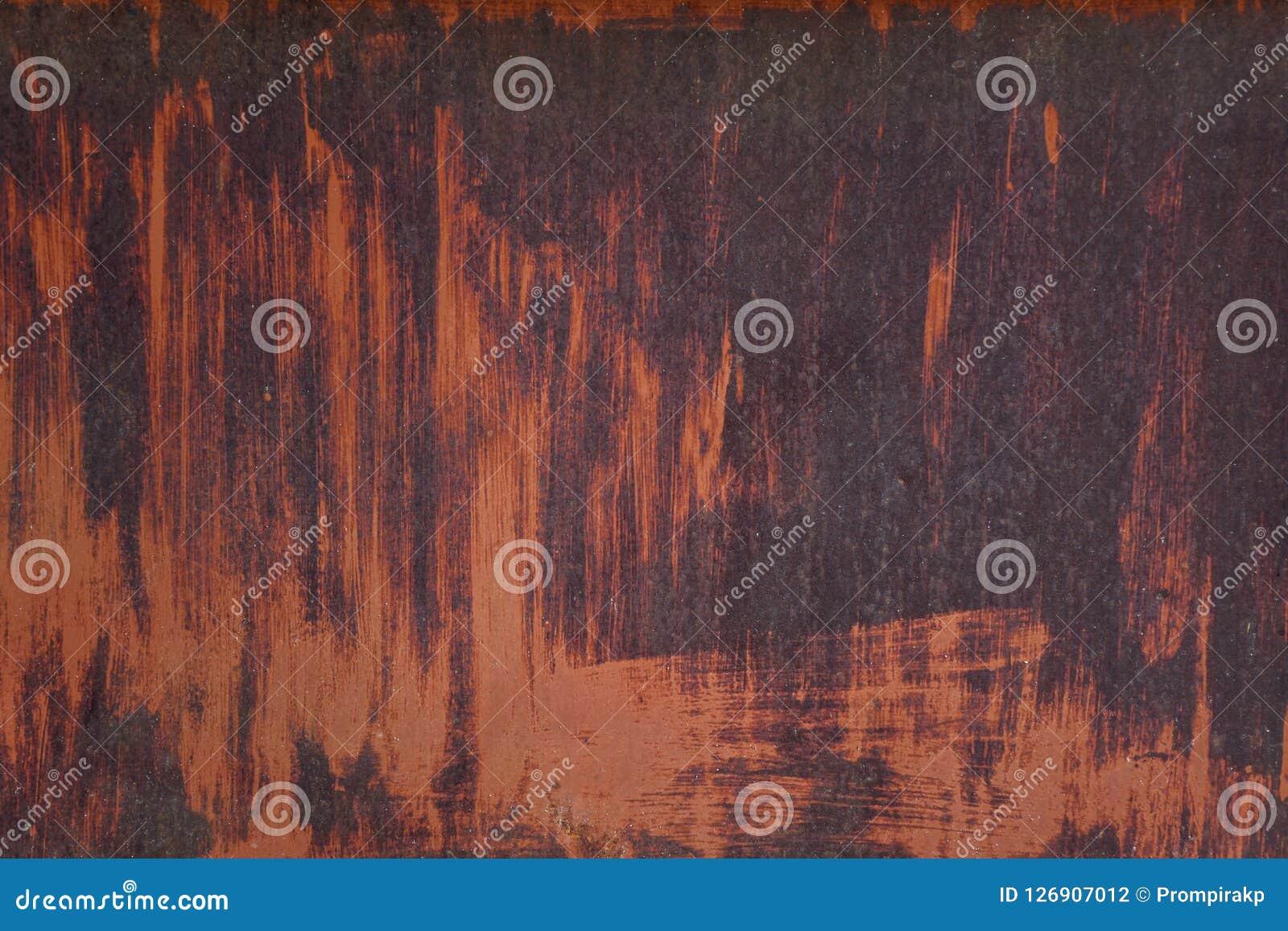 Metaalroest en vuil op staalplaat