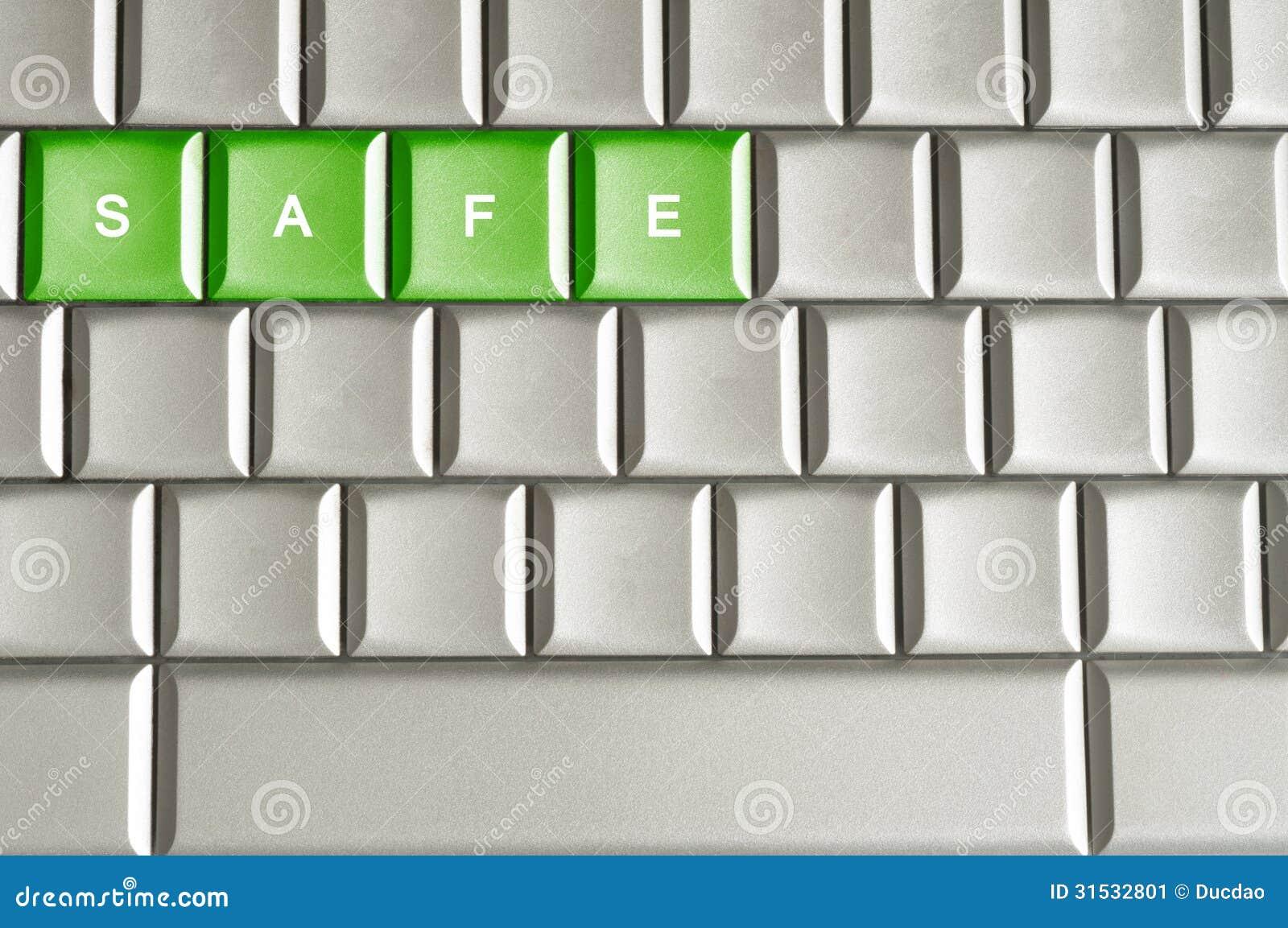 Metaaltoetsenbord met de woordbrandkast