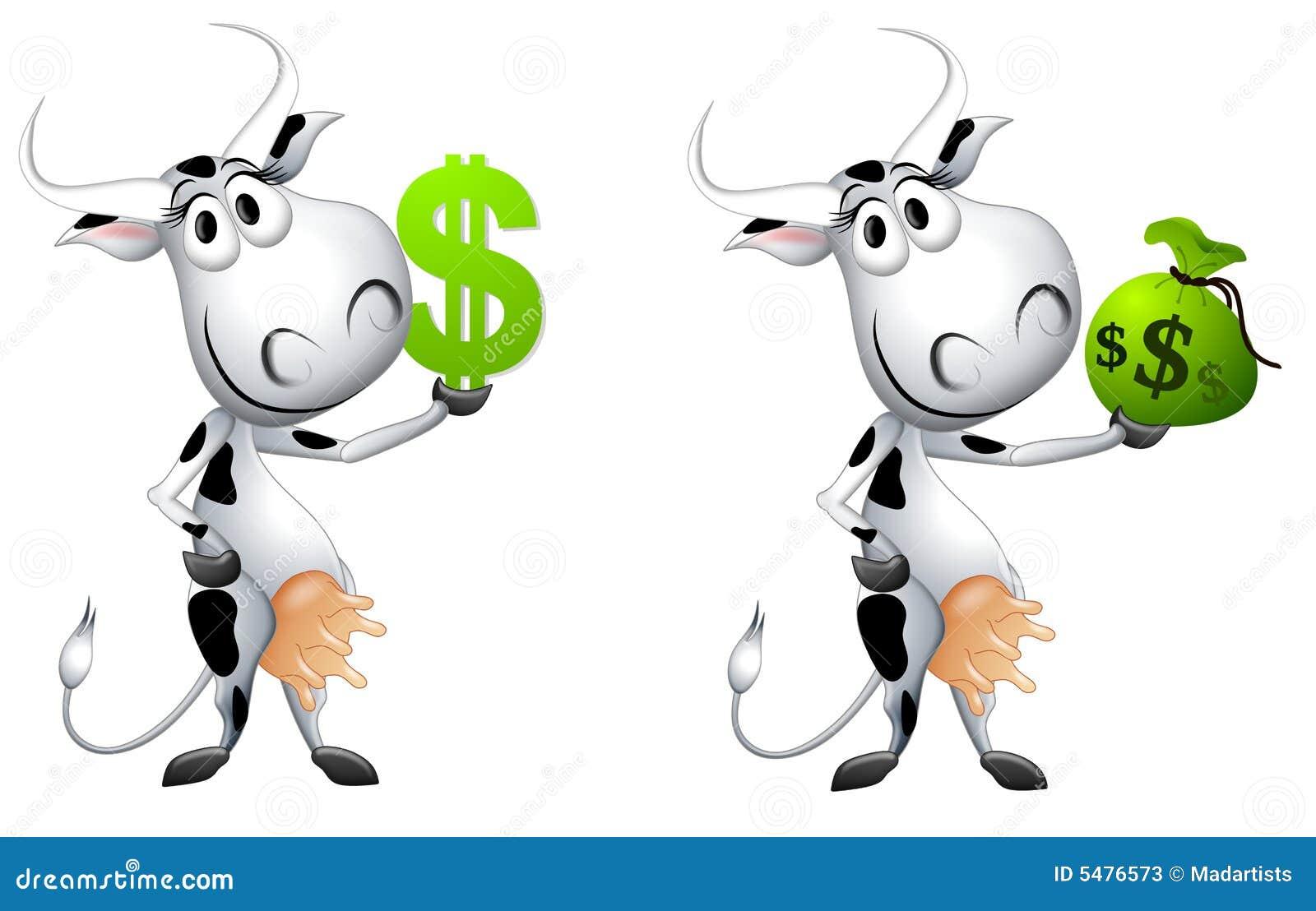 Metafora della mucca di contanti del fumetto