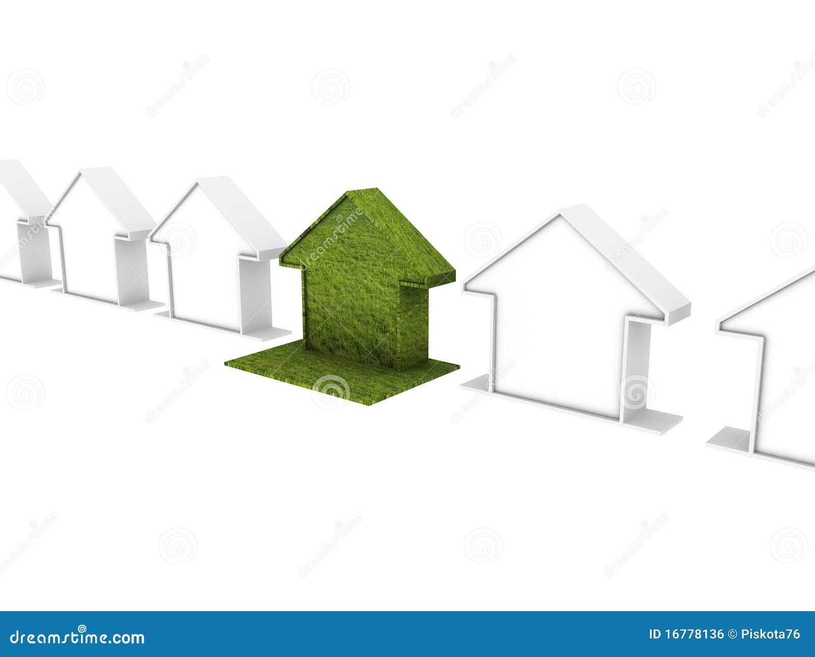 Metafora ecologica della casa illustrazione di stock for Programma di disegno della casa libera