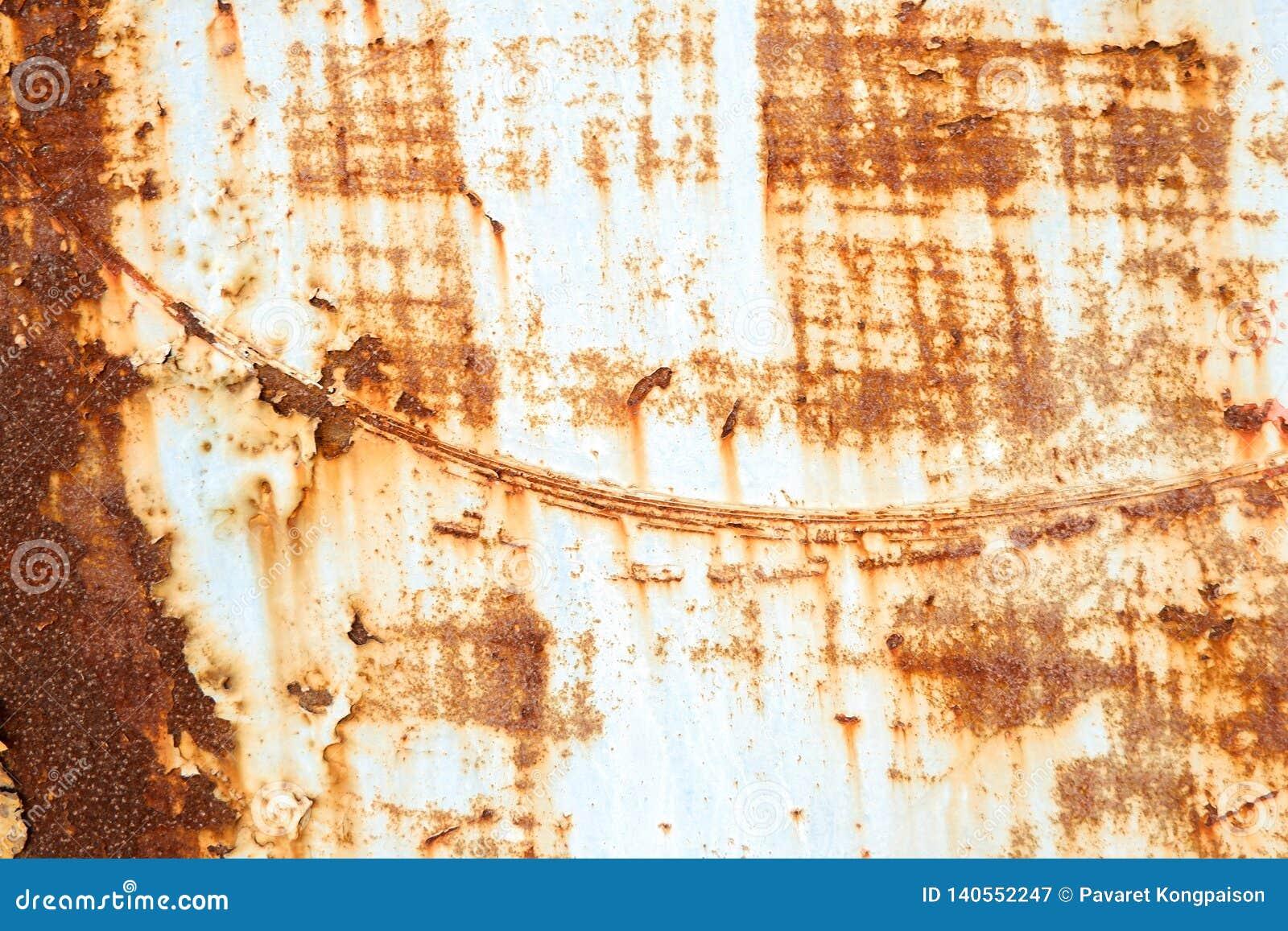 Metal ściana rdzewieje tło