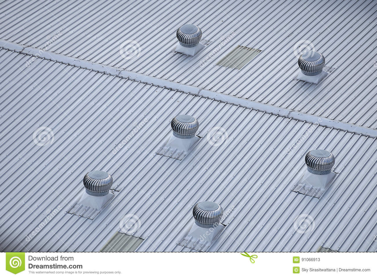 metal air ventilator on the roof. stock image - image of ventilating