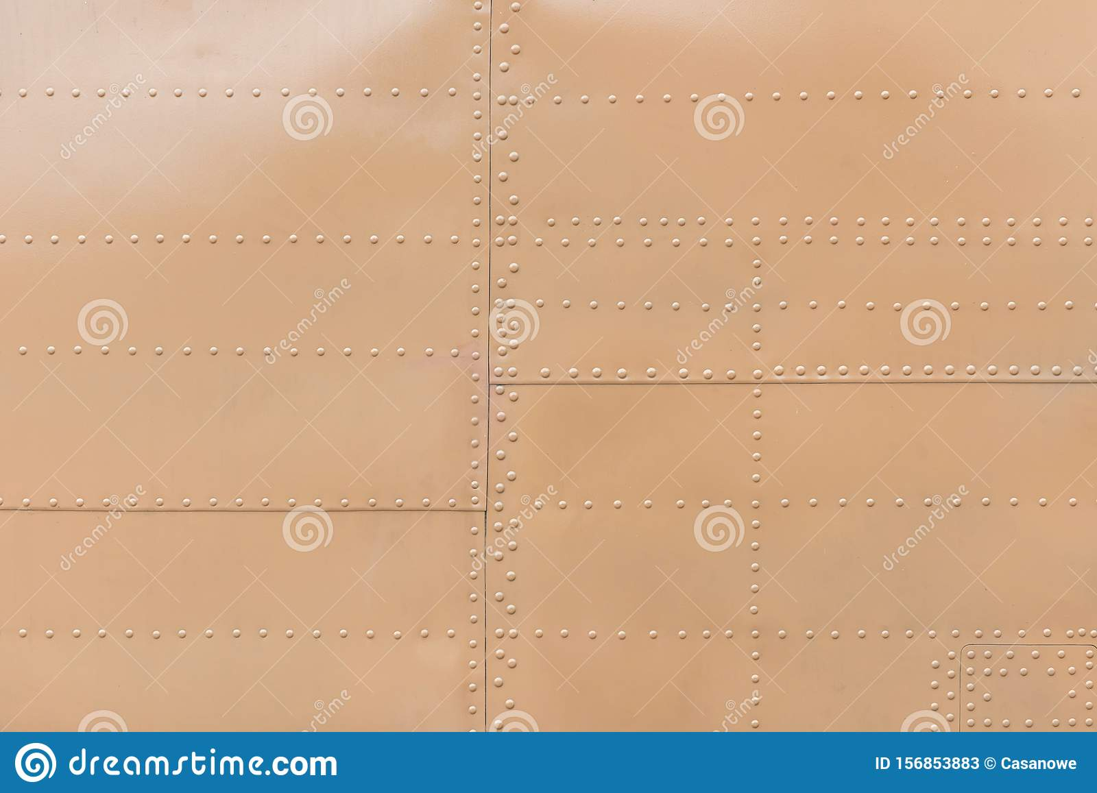 Metal aluminum surface of the aircraft fuselage texture