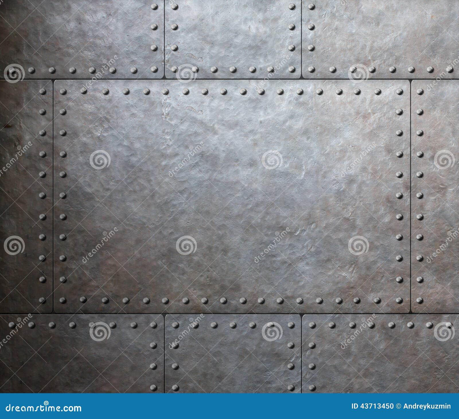 metal armor plates background stock photo