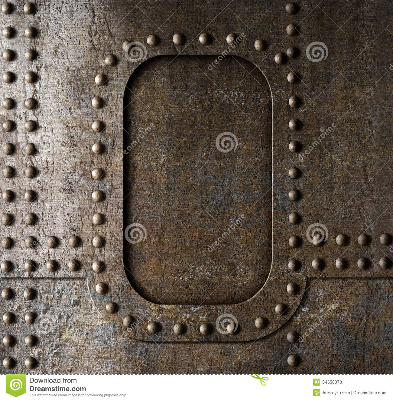 Metal Background With Rivets Stock Image Image Of Frame