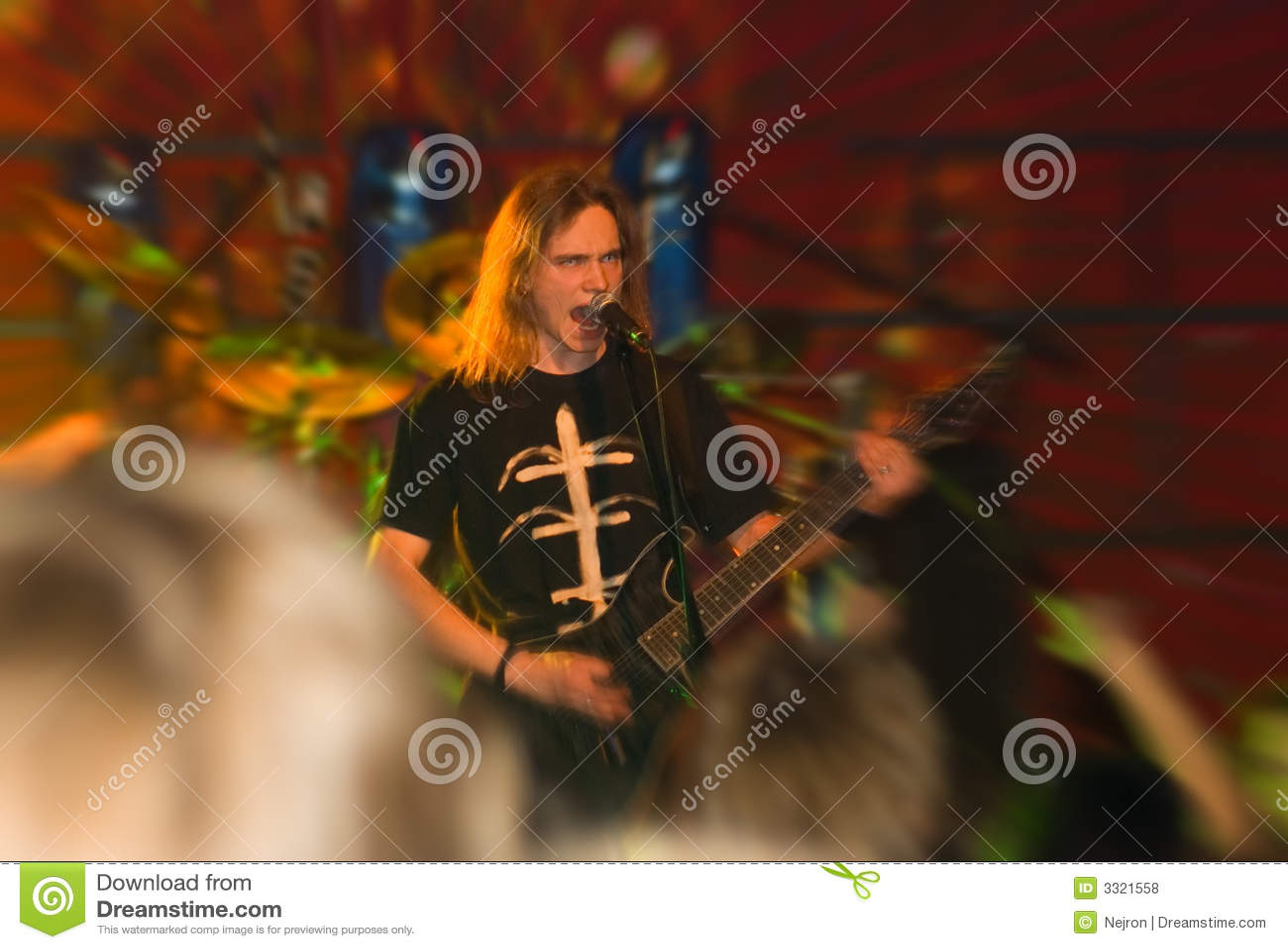 Metal band concert