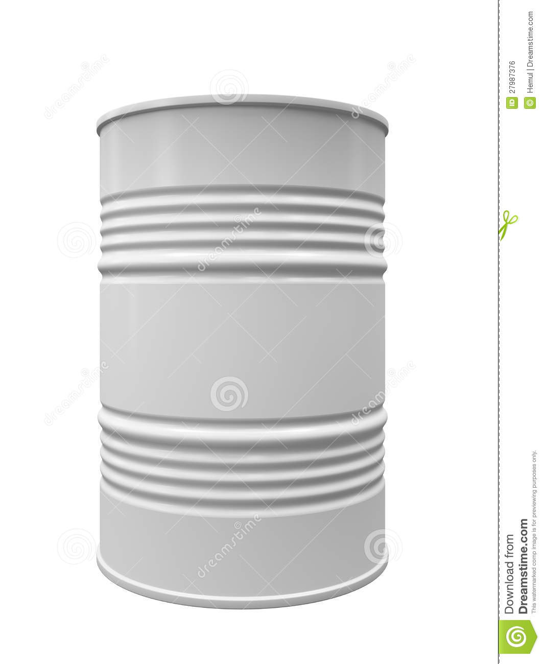 Metal Barrel Isolated Stock Illustration Image Of Cask