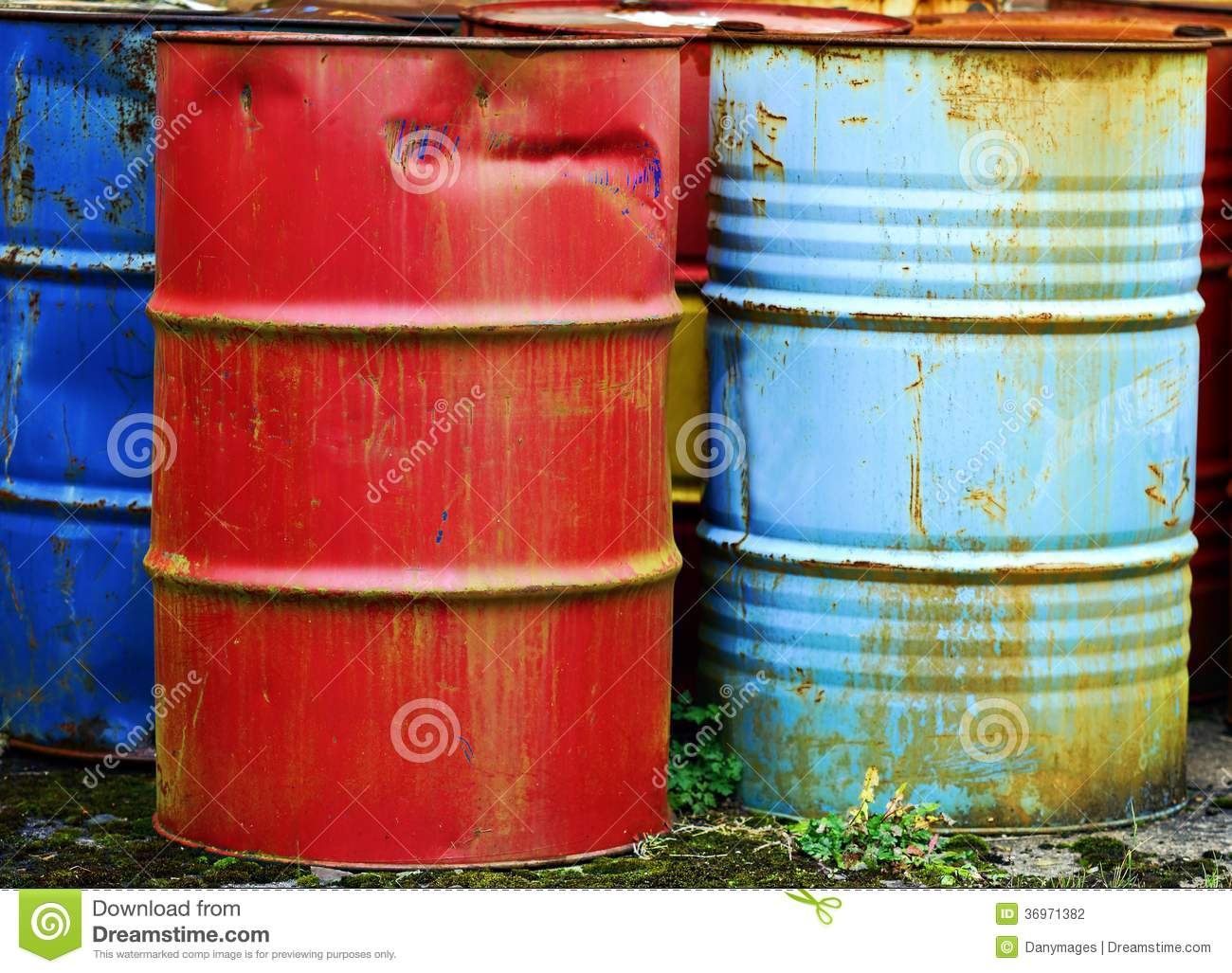 Metal Barrels Stock Photo Image Of Industry Stacked