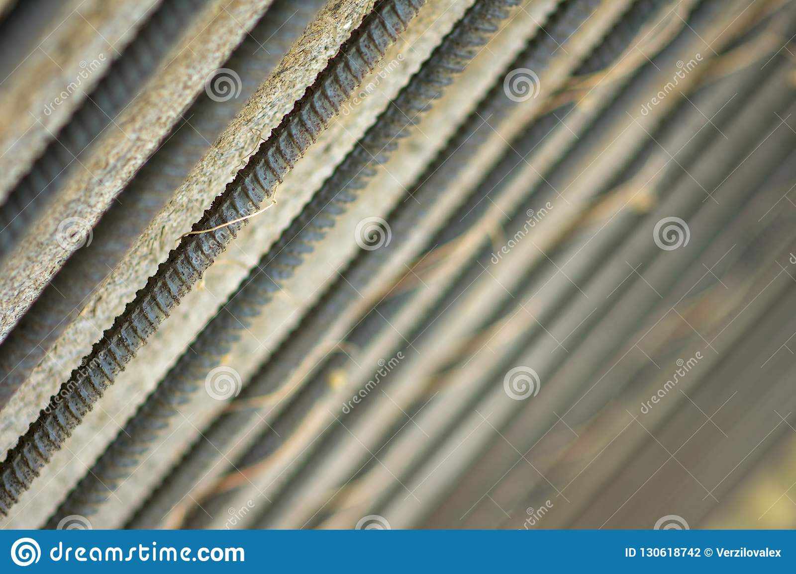 Metal bars background or texture