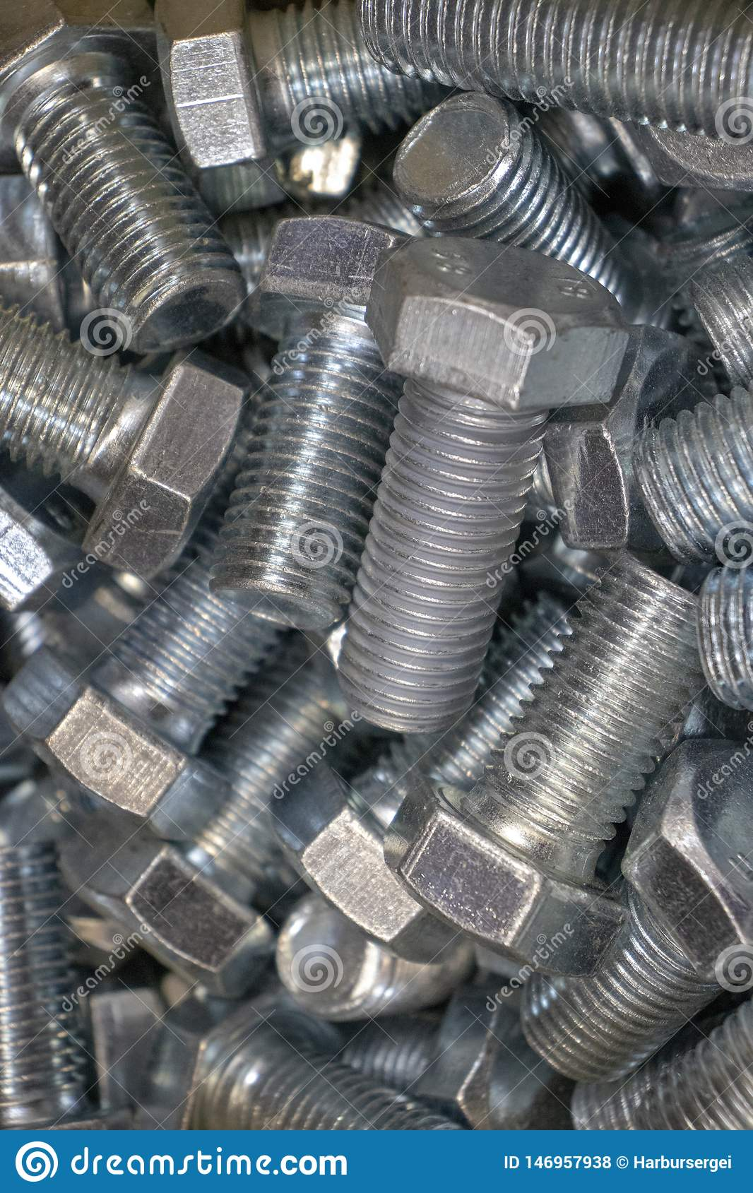 Metal Bolts for connection of iron and wooden parts