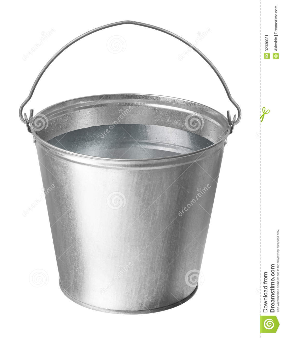 metal bucket with water stock image image of full metallic 32330031