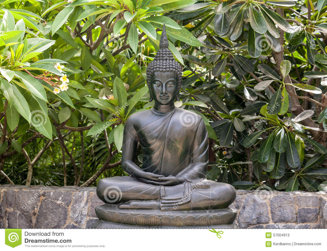 Metal Buddha Statue Lotus Pose Stock Photo Image 57004913